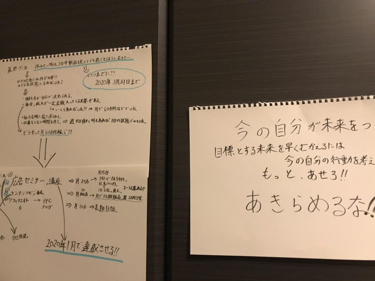 目標を紙に書いて改めて気づいた事
